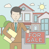 Real estate agent Royalty Free Stock Photos