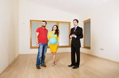 Real Estate Agent with couple Royalty Free Stock Photos