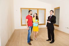 Real Estate Agent with couple Royalty Free Stock Photo