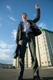 Real estate agent has an advantageous deal Stock Photo