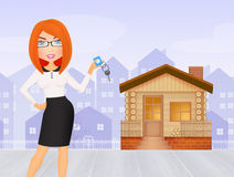 Real estate agent. Illustration of real estate agent Royalty Free Stock Photo