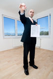 Real estate agent with key Stock Photography