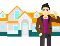Real estate agent with key. Royalty Free Stock Photos