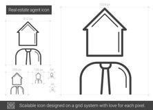 Real estate agent line icon. Stock Photos
