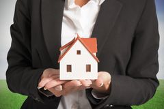 Real estate agent. And new home concept Stock Image