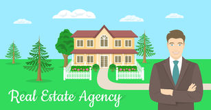Real Estate Agent Offers a House Stock Photography
