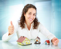 Real estate agent offers a wide selection apartments Stock Image