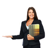 Real estate agent showing empty copy space Royalty Free Stock Photography