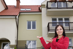 real estate agent showing flat Stock Images