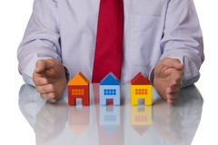 Real estate agent showing houses Royalty Free Stock Photo