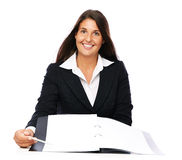Real estate agent signing Stock Image