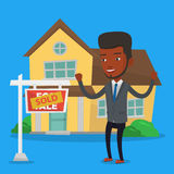 Real estate agent signing contract. Stock Images