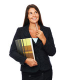 Real estate agent thinking Royalty Free Stock Image