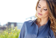 Real Estate Agent Woman. Attractive Real Estate Agent Woman Royalty Free Stock Image