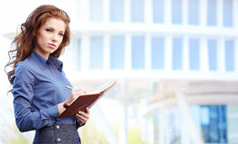Real Estate Agent Woman. Attractive Real Estate Agent Woman Royalty Free Stock Photos