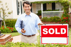 Real estate agent at work Royalty Free Stock Photography