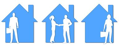 Real Estate Agents Clip Art Stock Image
