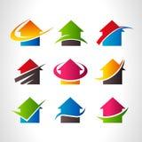 Real Estate alloggia Logo Icons Fotografia Stock