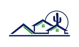 Real Estate Arizona. Logo Design Template Vector vector illustration
