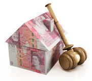 Real estate auction pounds stock image