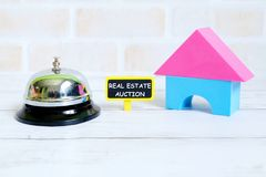 Real estate auction royalty free stock photography