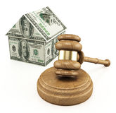 Real estate auction. On the white background Stock Image