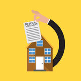 Real Estate avec le contrat de bail Photos libres de droits