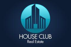 Real Estate, bâtiment, Chambre, construction et architecture Logo Vector Design Image libre de droits