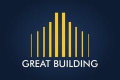 Real Estate, bâtiment, Chambre, construction et architecture Logo Vector Design Images stock
