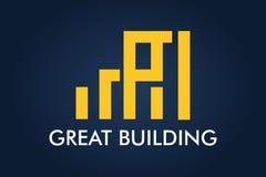 Real Estate, bâtiment, Chambre, construction et architecture Logo Vector Design Photographie stock libre de droits