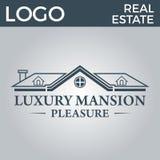 Real Estate, bâtiment, Chambre, construction et architecture Logo Vector Design Image stock