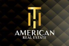 Real Estate, bâtiment, Chambre, construction et architecture Logo Vector Design illustration stock