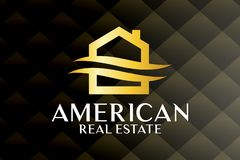 Real Estate, bâtiment, Chambre, construction et architecture Logo Vector Design illustration libre de droits