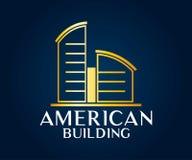Real Estate, bâtiment, construction et architecture Logo Vector Design Photographie stock libre de droits