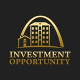 Real Estate, bâtiment, construction et architecture Logo Vector Design Image libre de droits
