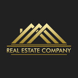 Real Estate, bâtiment, construction et architecture Logo Vector Design Photo libre de droits
