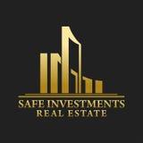 Real Estate, bâtiment, construction et architecture Logo Vector Design Photos stock