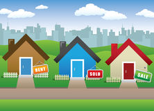 Real Estate Background. Vector illustration -- Lovely houses background Royalty Free Stock Photo