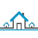 Real estate background. Real estate house icons isoleted on white background Stock Image