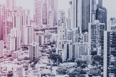 Real estate background, modern building facade and skyscraper ci. Ty skyline Stock Image