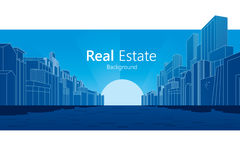 Real Estate. Background. Vector illustration Royalty Free Stock Photos