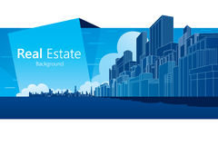 Real Estate. Background. Vector illustration Royalty Free Stock Image