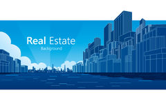 Real Estate. Background. Vector illustration Stock Image