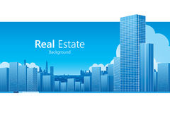 Real Estate. Background. Vector illustration Stock Photography