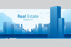 Real Estate. Background. Vector illustration Stock Photos