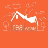 Real Estate bakgrundsmålning för ungar Royaltyfri Fotografi