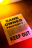 Real Estate Bank Owned Sign Poster on Building Stock Photo
