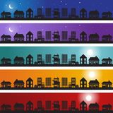 Homes Banner Set Stock Photo