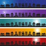 Homes Banner Set. A banner set of multiple homes Stock Photo