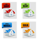 Real estate banner set house for sale for rent Stock Photos